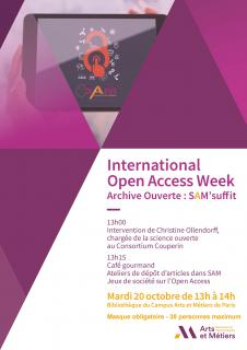 International Open Access Week du 20 octobre 2020